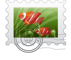 Fish Postal Stamp
