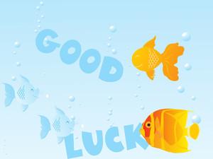 Fish Under Water Vector Illustration