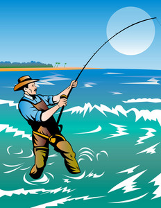 Fisherman Surf Casting