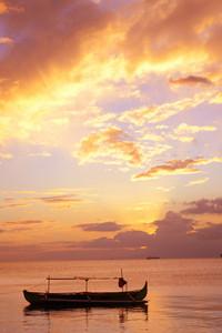 Fishing Boat Portrait Sunset