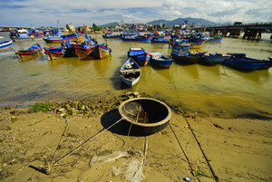 fishing village with a lot of boat