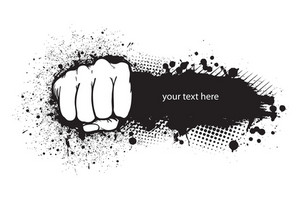 Fist With Grunge