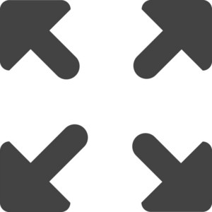 Fit To Screen Glyph Icon