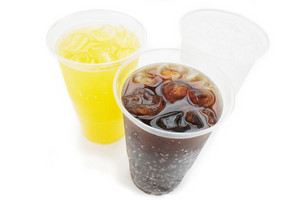 Fizzy Drinks In Plastic Beakers