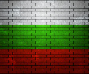 Flag Of Bulgaria On Brick Wall