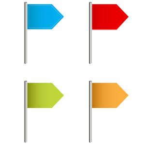 Flag Pins Vectors