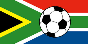 Flag South Africa With Soccer Football Ball