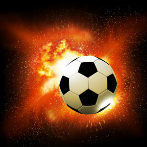 Flame Soccer Ball