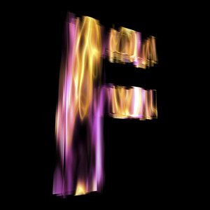 Flaming 3d Letter