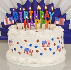 Flaming Patriotic Cake