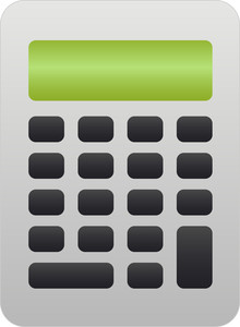 Flat Design Style Calculator Icon