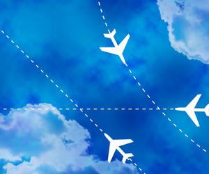 Flight Paths Sky Background