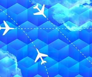 Flight Routes Business Backdrop