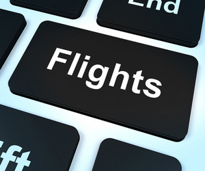 Flights Computer Key For Overseas Vacation Or Holiday Booking