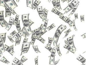 Floating Money Background