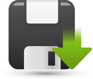 Floppy Disk Down Lite Computer Icon