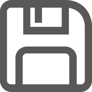 Floppy Disk Stroke Icon