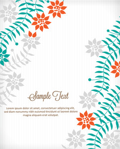 Floral Background (editable Text)