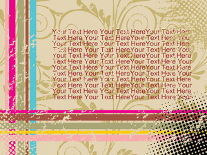 Floral Background Frame And Sample Text