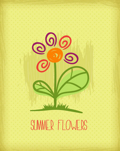 Floral Background Illustration With Doodle Flower,
