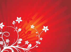 Floral Background Red Vector Wallpaper