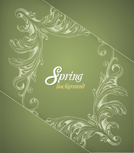 Floral Background Vector Illustration With Floral Frame