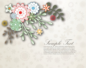 Floral Background Vector Illustration