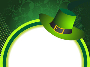 Floral Background With Isolated Leprechaun Hat
