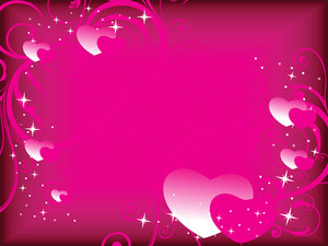 Floral Background With Romantic Heart