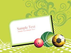 Floral Background With Sport Balls