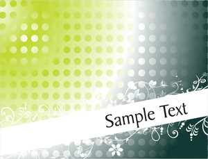 Floral Clip-art With Sample Text