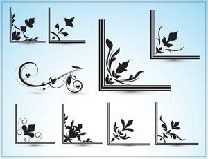 Floral Corner Frames