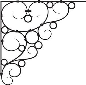 Floral Corner Vector Element