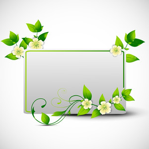 Floral Decorated Frame For Nature Concept