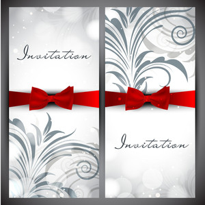 Floral Decorated Invitation Card