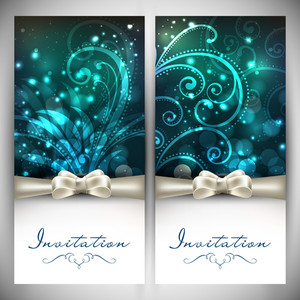 Floral Decorated Invitation Cards