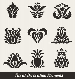 Floral Decoration Elements - Stylized Flowers