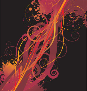 Floral Expression. Vector Background.