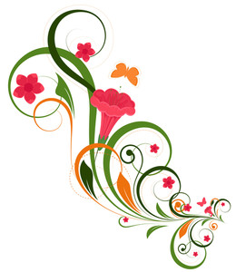 Floral Flourish Decorative Background