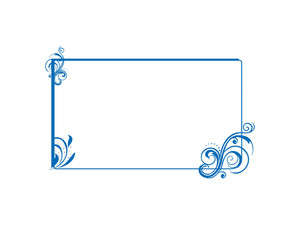 Floral Frame In Green Background