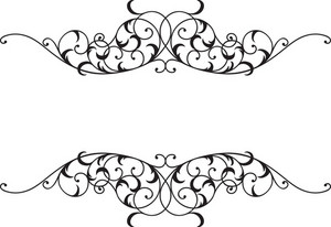 Floral Frame Vector Element