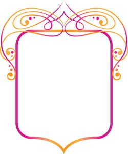 Floral Frame Vector Element