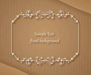 Floral Frame Vector Illustration With Floral Frame