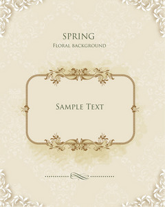 Floral Frame Vector Illustration With Floral Frame