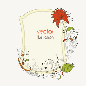 Floral Frame Vector Illustration