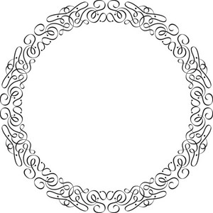 Floral Frame Vector Ornament