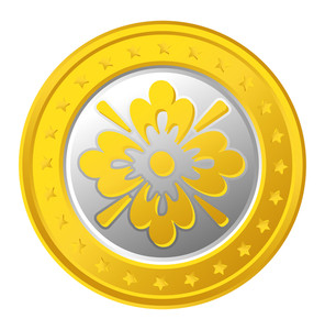 Floral Gold Coin