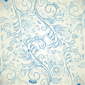 Floral Hand Drawn Background