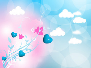 Floral Heart Background