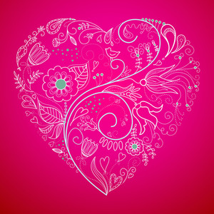 Floral Heart Shape-
